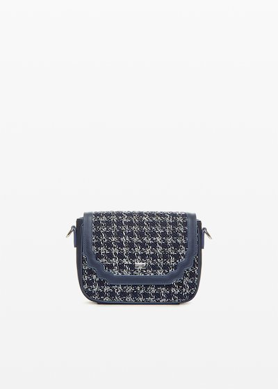 Bita faux leather crossbody bag boucle' effect