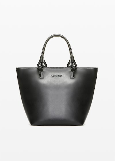 Banna faux leather shopping bag with ring handles