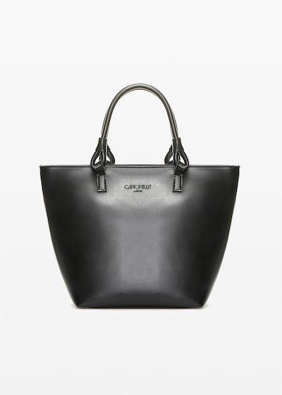 Shopping bag Banna in ecopelle con manici ad anello