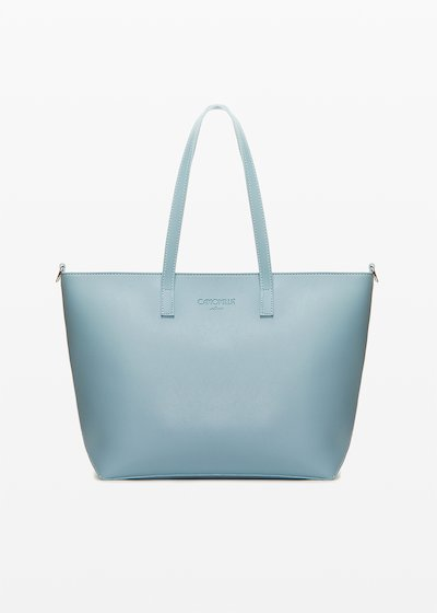 Shopping bag Bimal in ecopelle con tracolla removibile