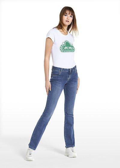 Jeans a zampa Darius con bottone personalizzato