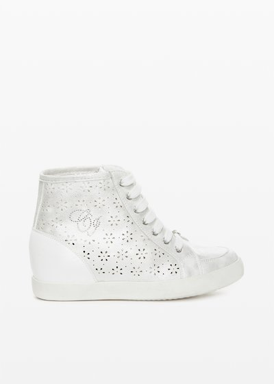 Shery perforated faux leather sneakers