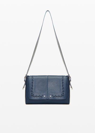 Boralia Cow shopping bag with interweaving detail