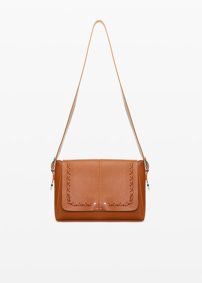 Boralia Cow shopping bag with interweaving detail