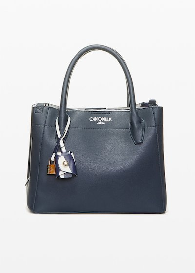 Bruna faux leather bag with CI padlock detail