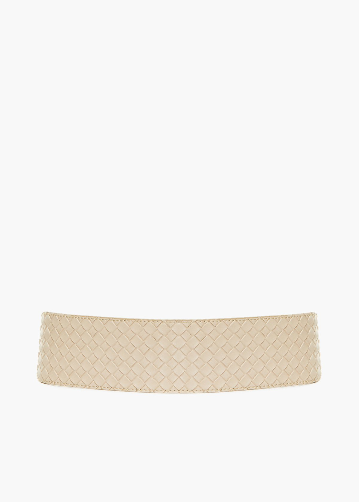Coralia braided faux leather stretch belt - Doeskin - Woman
