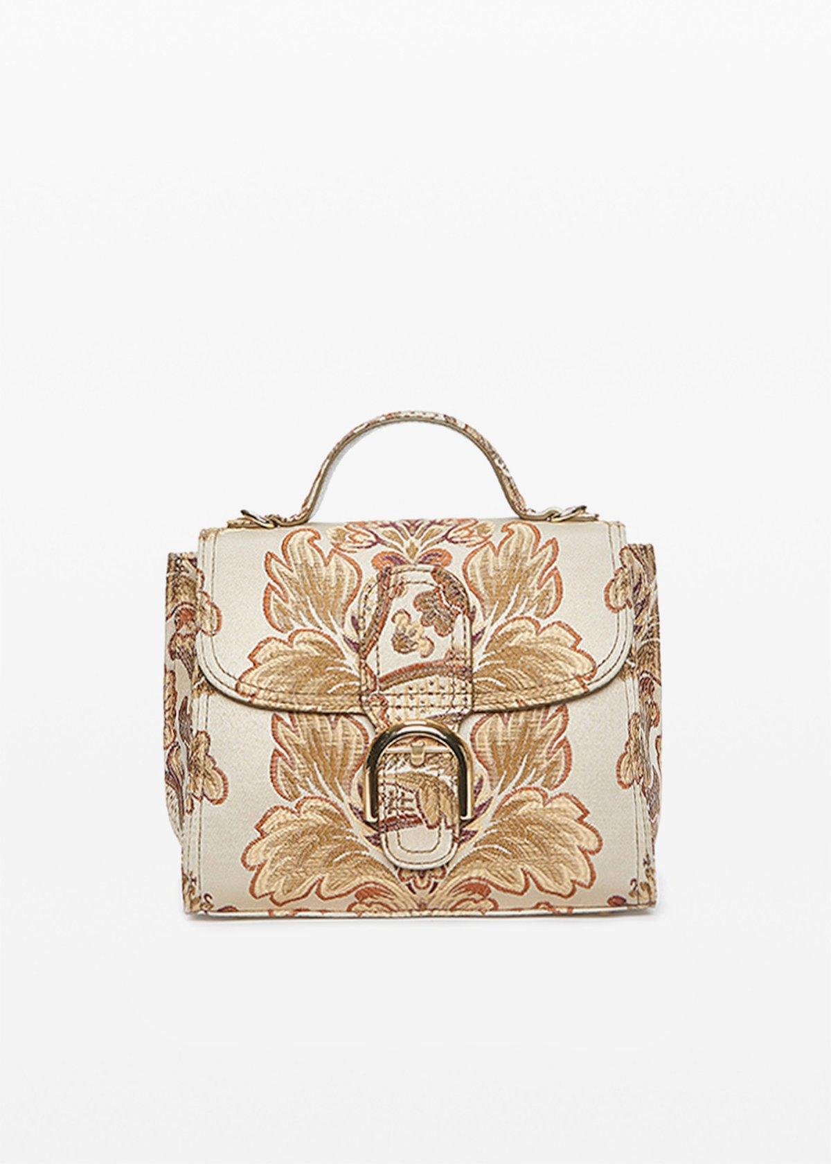 Birgit shoulder bag with removable shoulder strap - Light Beige Fantasia - Woman