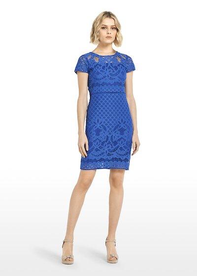 Amel dress lace effect mineral colour