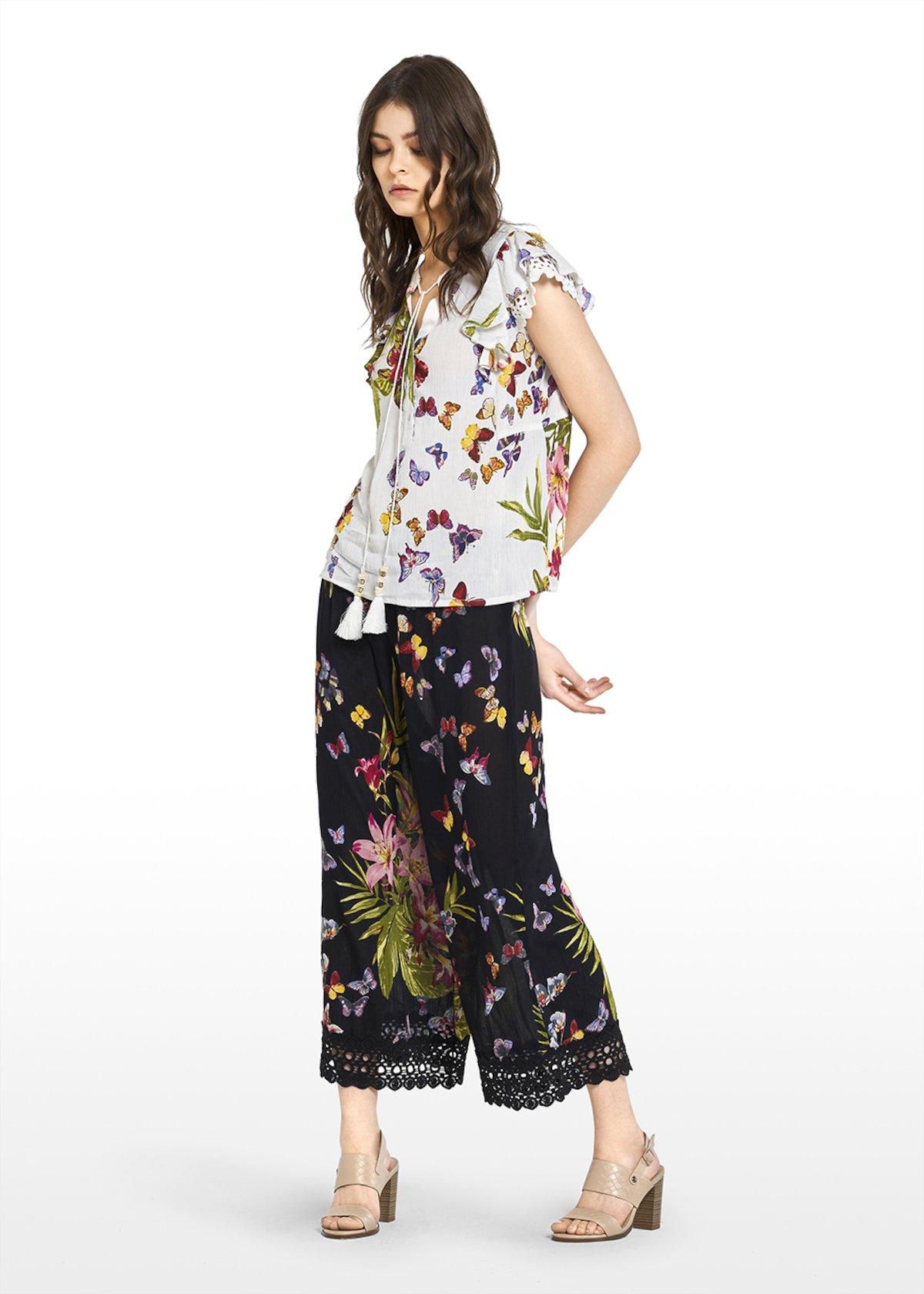 Camicia Camy con rouches - White\ Peonia\ Fantasia - Donna - Immagine categoria