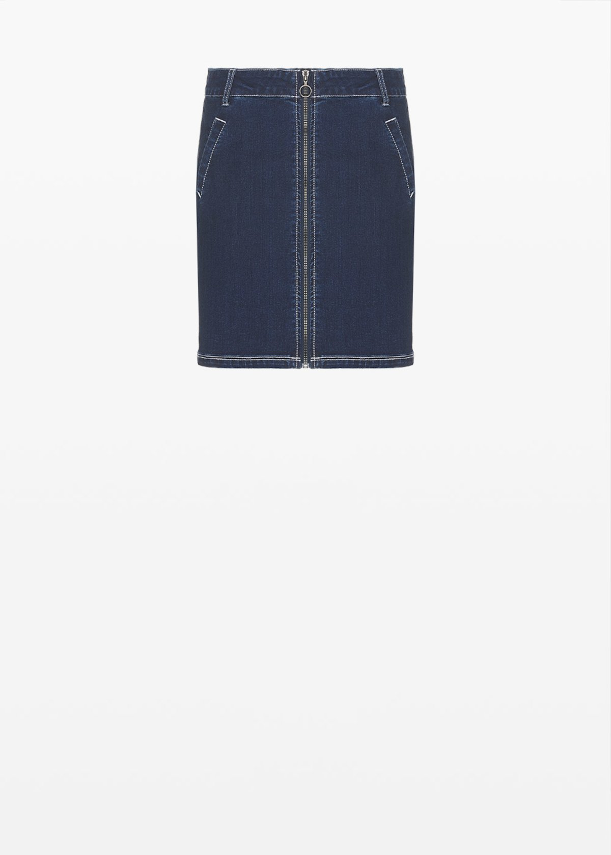 Gayla denim skirt with zip - Dark Denim - Woman