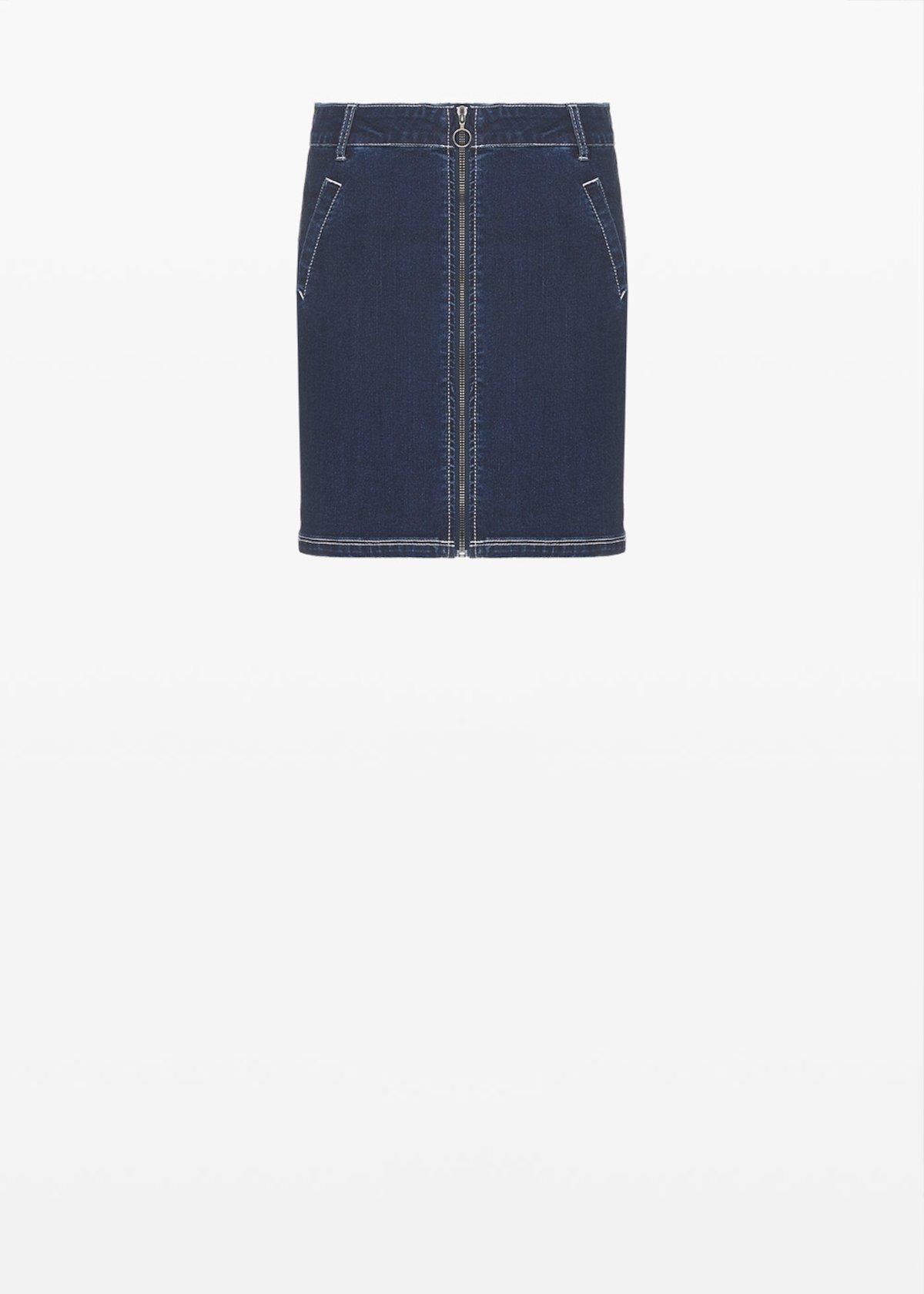 Gayla denim skirt with zip - Dark Denim - Woman - Category image