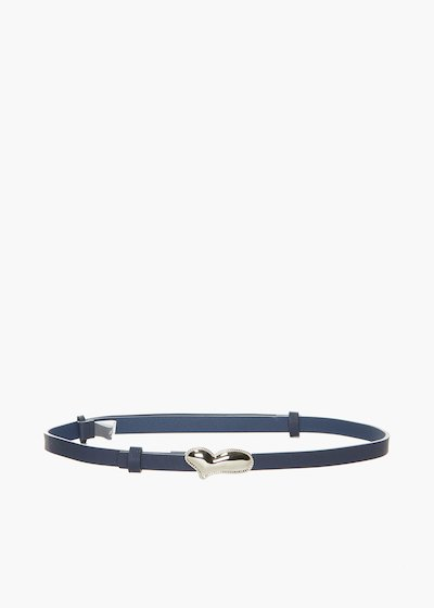 Cintura Cuay regolabile in ecopelle con chiusura cuore-metal