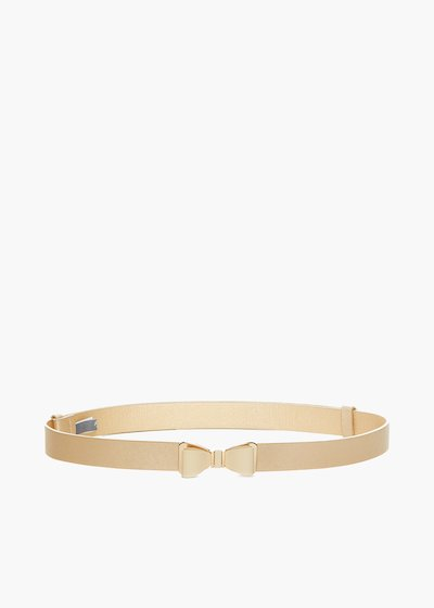 Cristy belt in saffiano faux leather with bow closure