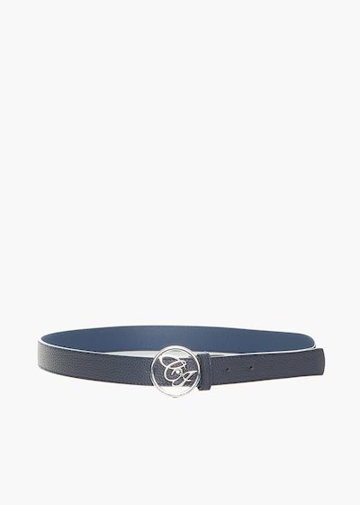 Faux leather Cinty belt deer print and metal logo fastening
