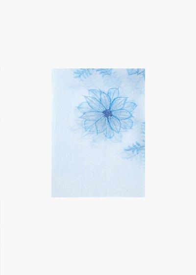 Sciarpa Sax in seta e cotone con ricamo fiori