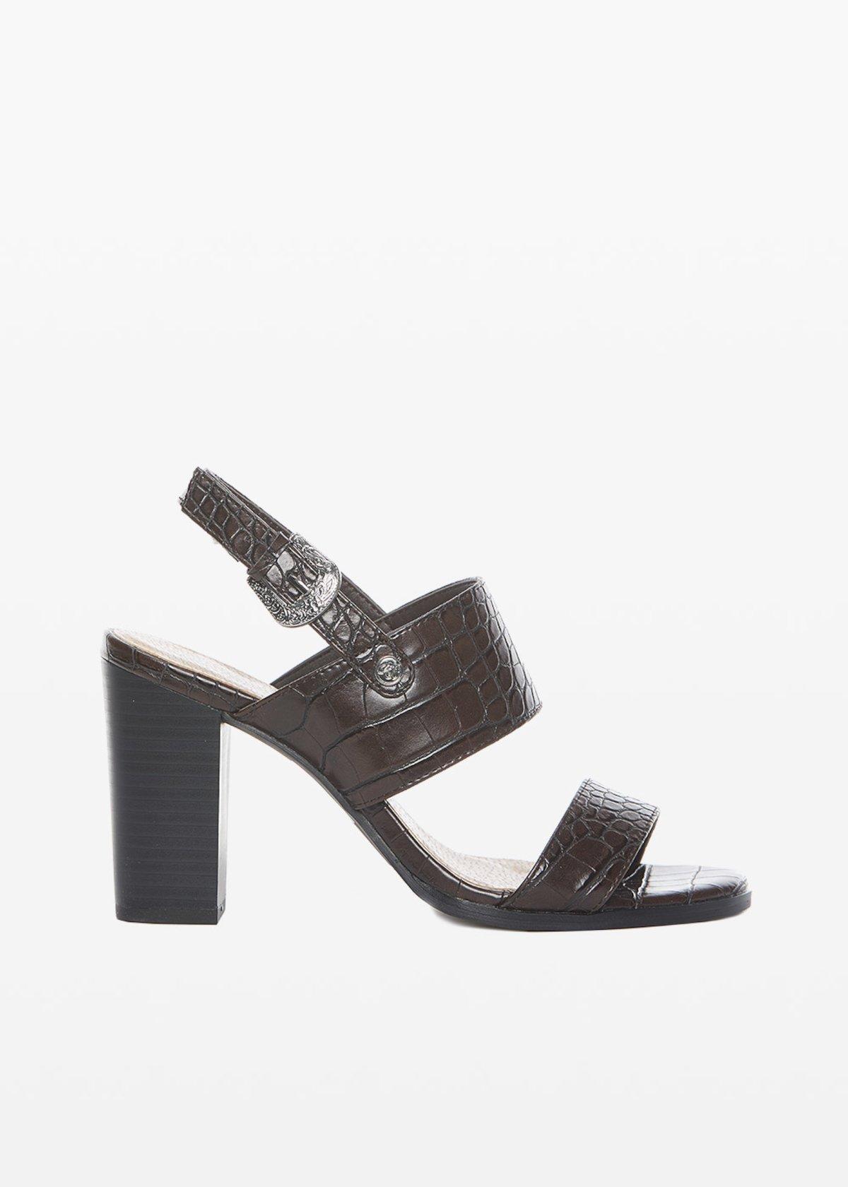 Sael sandals crocodile effect - Crosta - Woman