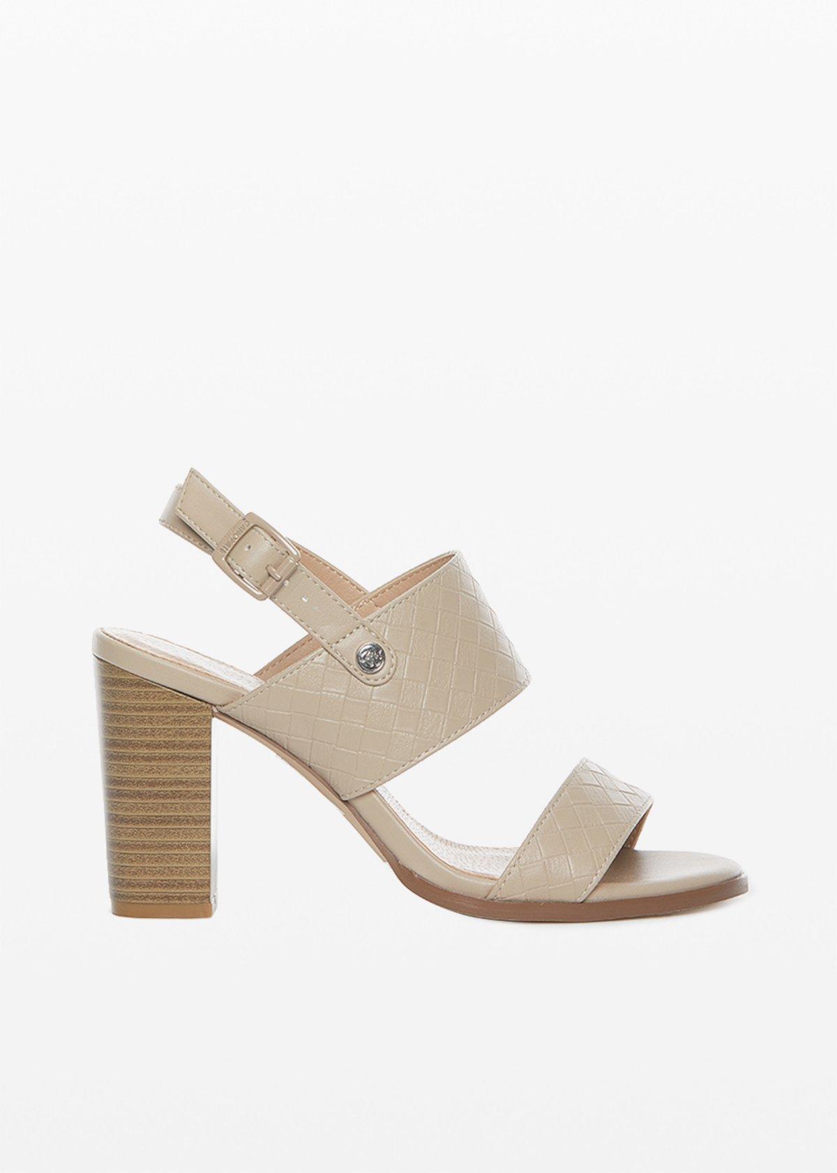 Sadik faux leather sandals - Doeskin - Woman