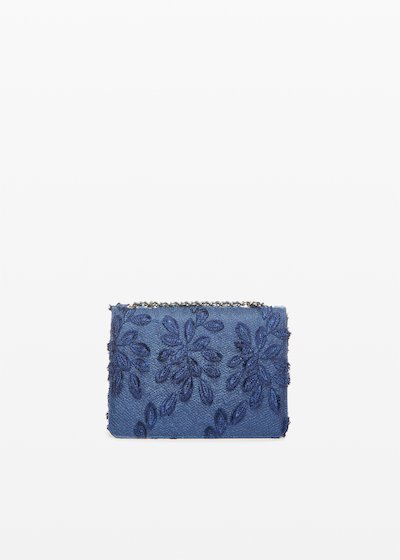 Fede leaf rigid clutch bag with shoulder strap