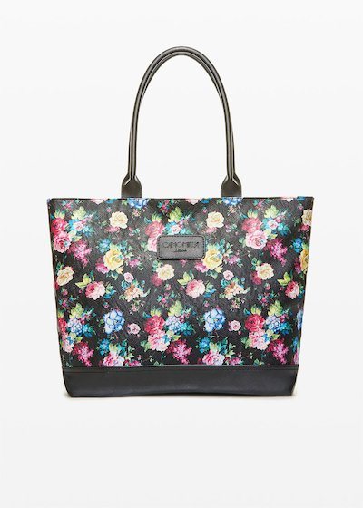 Shopping bag Trendflo3 con fantasia floreale