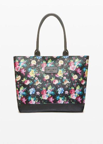 Shopping bag Trendflo3 con fantasia floreale