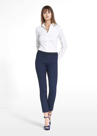 Jeggings Kelly in technical fabric with on tone broguing