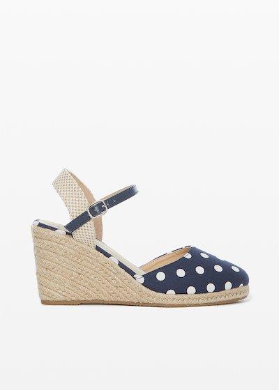 Sirya sandals Polka dot pattern and wedge
