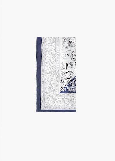Smana foulard with cashmere print