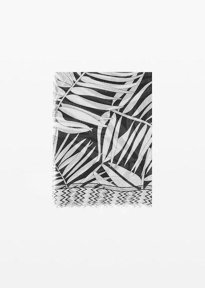 Sciarpa Soled in viscosa stampa palme