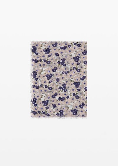 Spencer scarf micro-flowers print