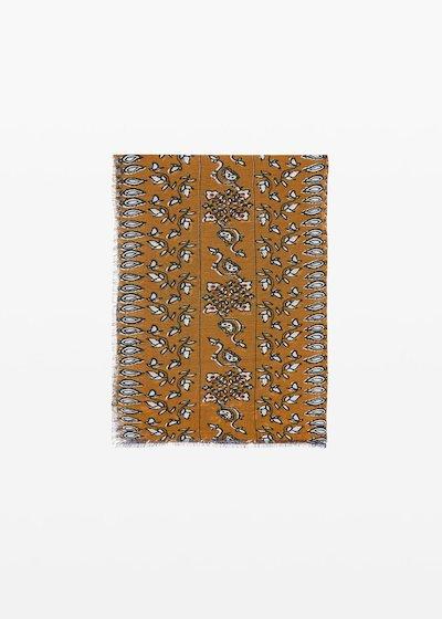 Saphir cashmere printed scarf