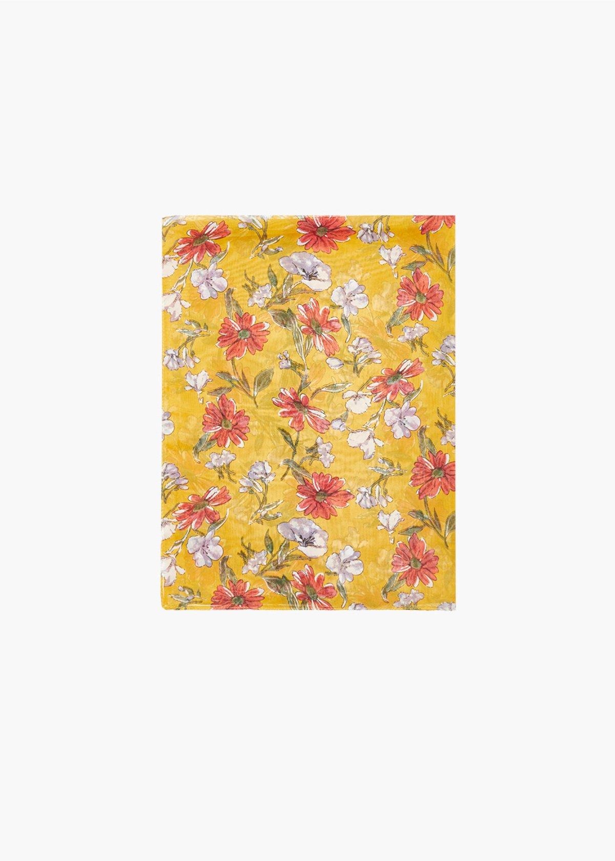 Sira floral print scarf - Miele Fantasia - Woman