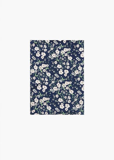Star scarf with micro floral print