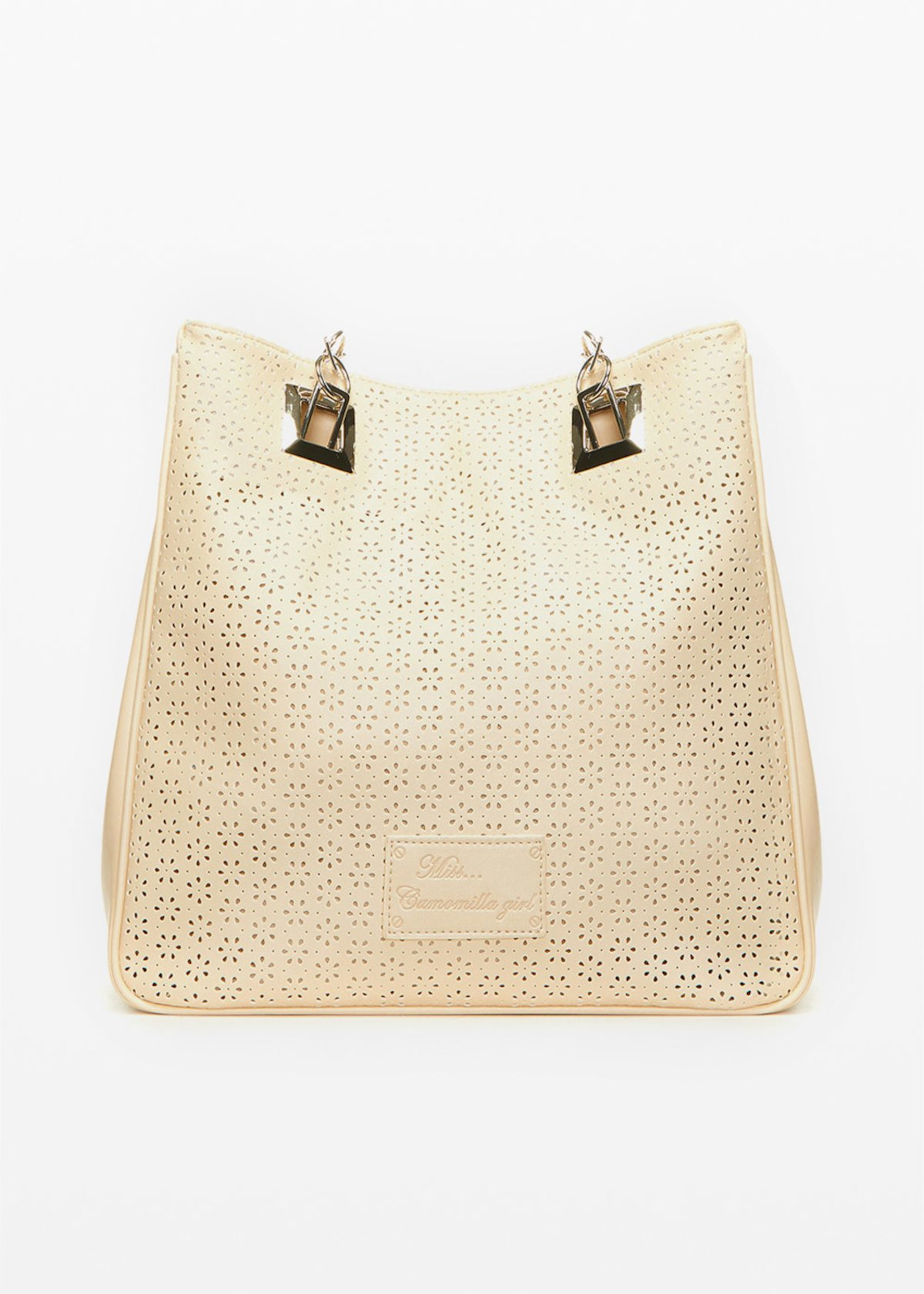 Missflope perforated fabric shopping bag - Safari - Woman