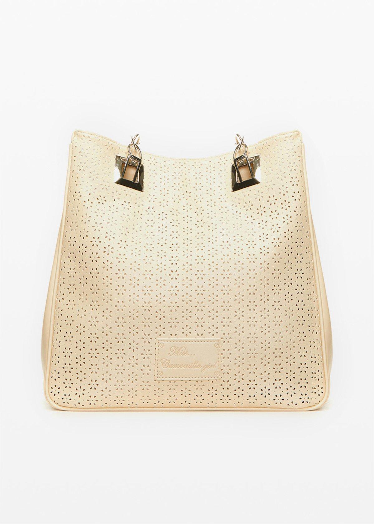 Missflope perforated fabric shopping bag - Safari - Woman