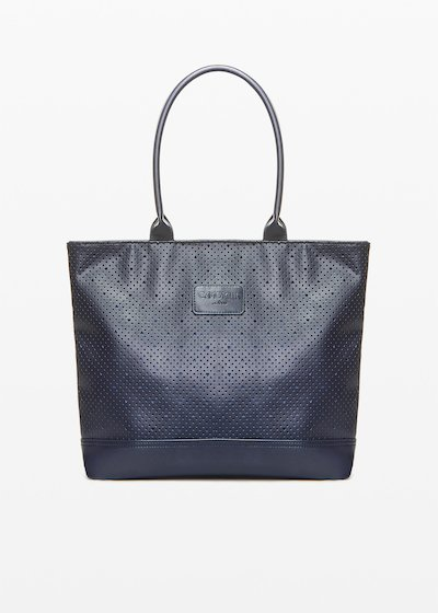Shopping bag Trenheape con manici in ecopelle