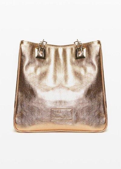 Shopping bag Missimetal con chiusura a zip