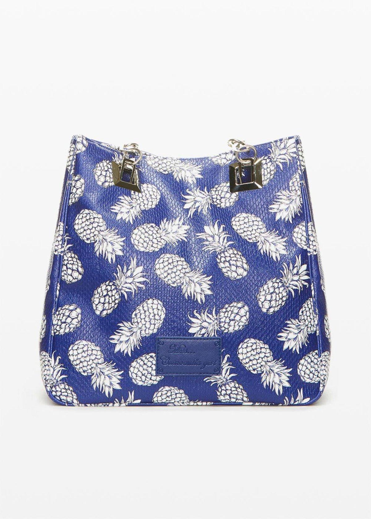 Shopping bag Misspinea con manici in tessuto e catena - Night Fantasia - Donna - Immagine categoria