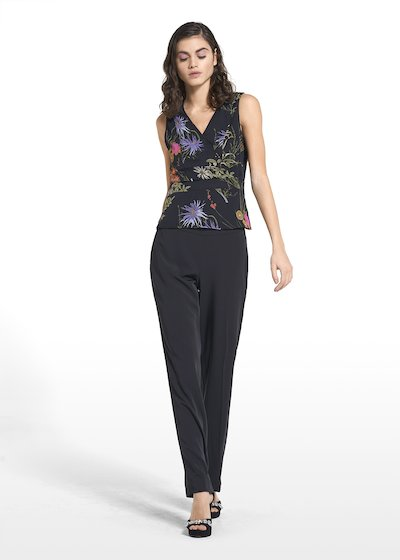 Wide-leg pants Pedro with side zipper