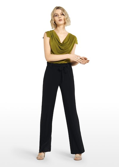 Pincher jersey trousers with sash