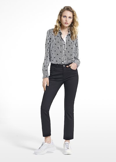 Long-sleeved patterned blouse Carla