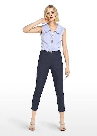 Clorinda shirt with jewel buttons
