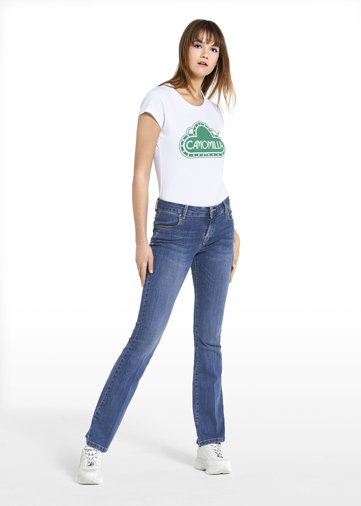 T-shirt Serena with short cotton sleeves - White - Woman
