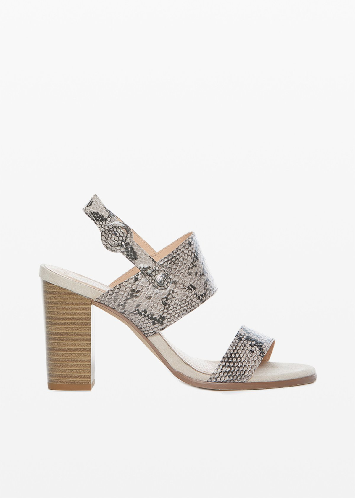 Faux leather Stephanie sandals python print - Beige Animalier - Woman - Category image