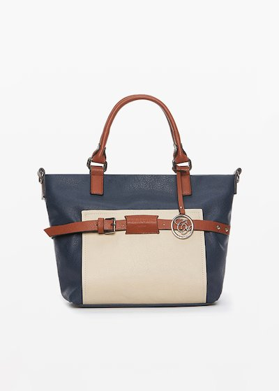 Brigida faux leather bag with shoulder strap