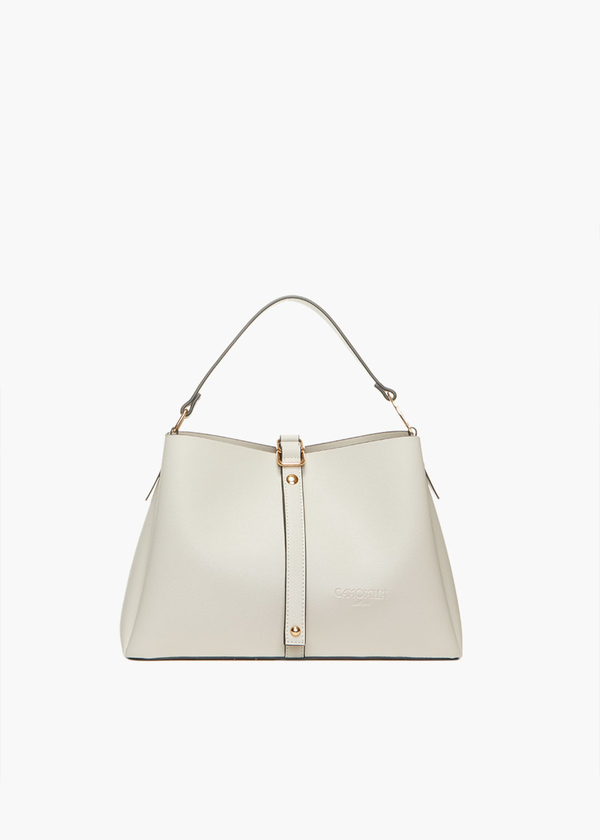 Brynn handles bag with strap - Light Beige - Woman