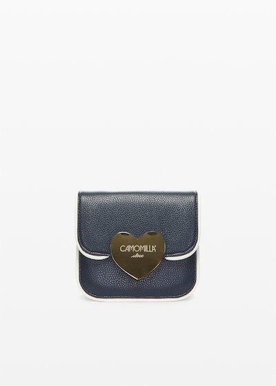 Clutch bag Biping con chiusura love light gold