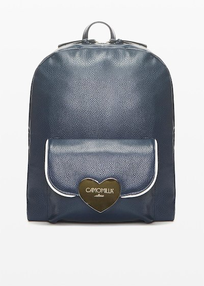 Faux leather Bithan backpack with deer print