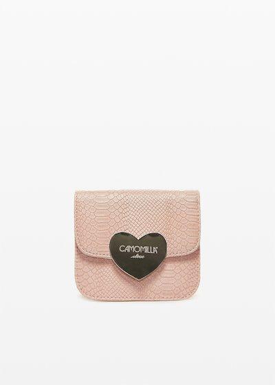 Blassy clutch bag with love closure
