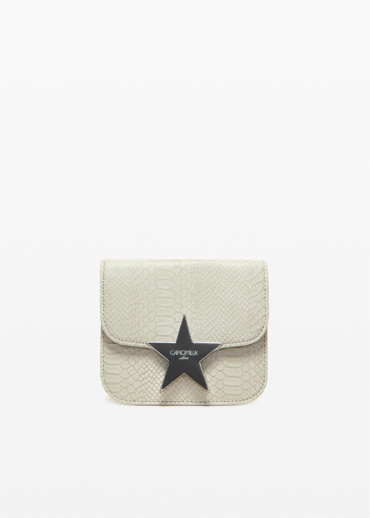 Clutch bag Buggy con effetto pitone - Grey - Donna