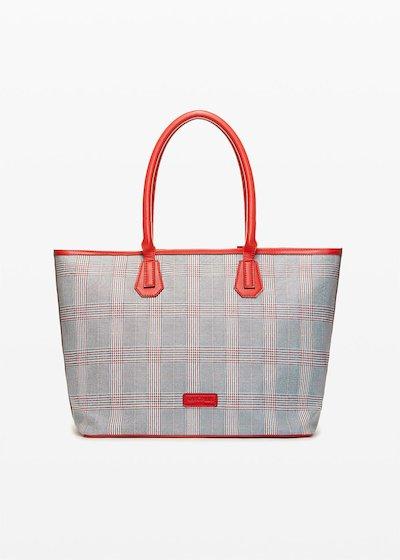 Bohemian Shopping bag check print